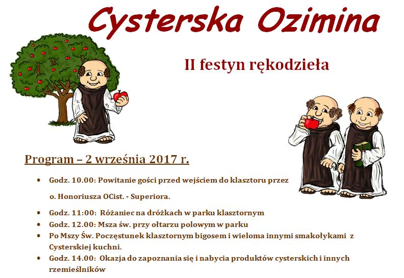 Cysterska Jesień - Festyn Rękodzieła
