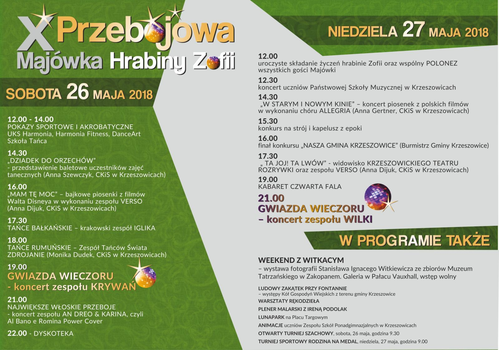 Majówka Hrabiny Zofii oraz Jarmark Tradycji i Rękodzieła